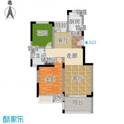 港城滴水湖馨苑85.69㎡景观电梯公寓A型户型