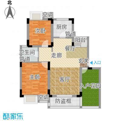 港城滴水湖馨苑88.00㎡G3C2户型