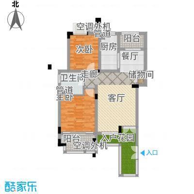 港城滴水湖馨苑88.00㎡D2户型