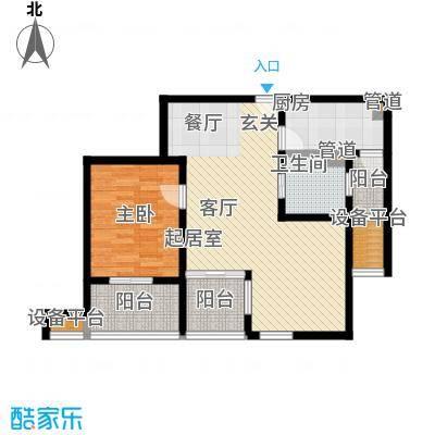 浦江华侨城77.47㎡三期E户型