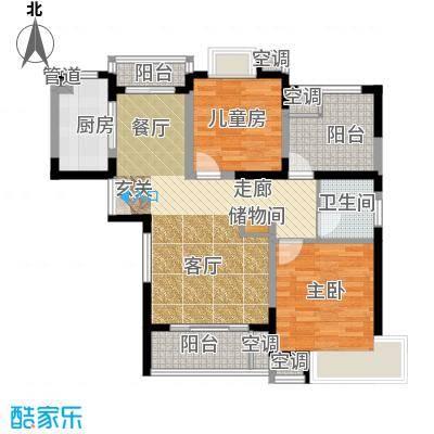 铂金公馆89.00㎡住宅户型