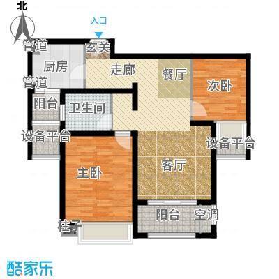 中星海上名豪苑四期御菁园85.48㎡E-2户型