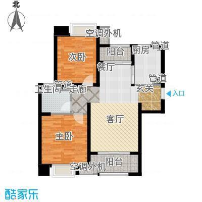 新城馥华里88.00㎡D户型