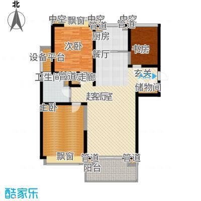 合生财富海景公馆123.00㎡标准层C户型