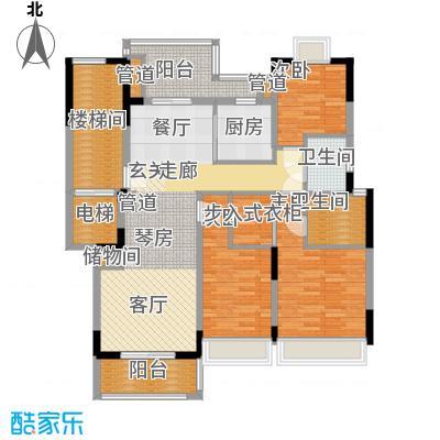 保集澜湾123.00㎡5#洋房七层户型