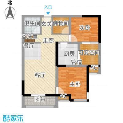 成都A区83.00㎡电梯E型1面积8300m户型