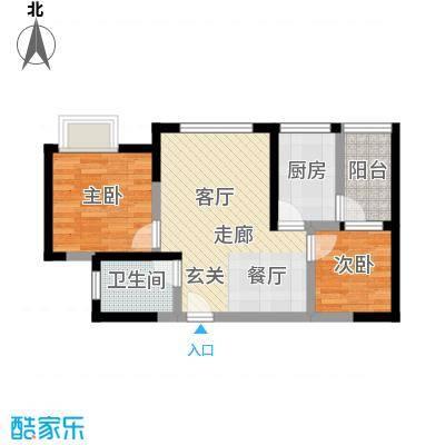 成都A区65.00㎡3、4、5、6#楼2面积6500m户型