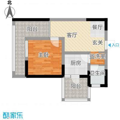 成都A区46.00㎡5#楼1面积4600m户型
