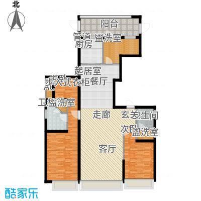 上海星光域161.00㎡洋房W户型