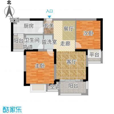虹桥宝龙城88.00㎡A2户型