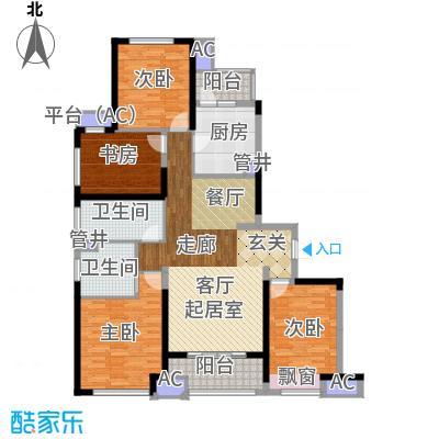 中建溪岸澜庭138.00㎡高层D1户型