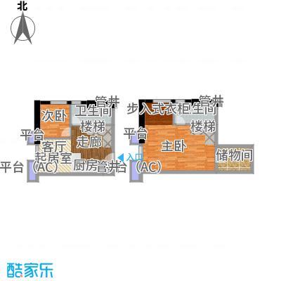 佳兆业城市广场42.00㎡Asoho平面图户型