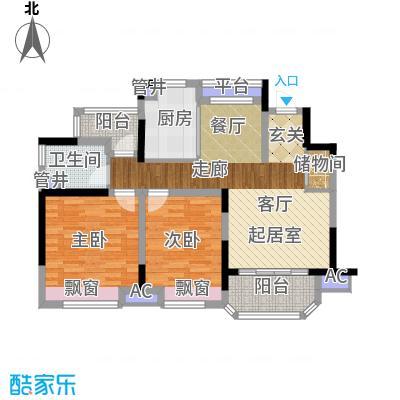 中建溪岸澜庭85.00㎡花园洋房C8户型