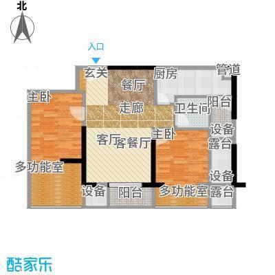 利通城南晶座89.37㎡F型(已售完面积8937m户型