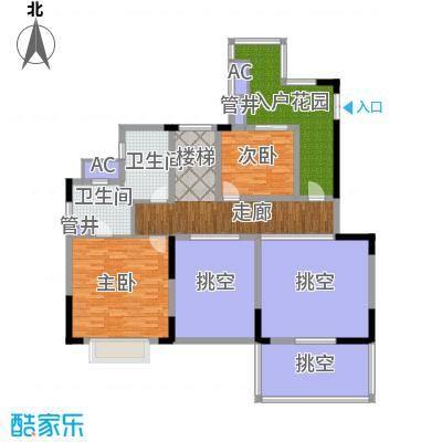 佳兆业城市广场145.00㎡AB7八层户型
