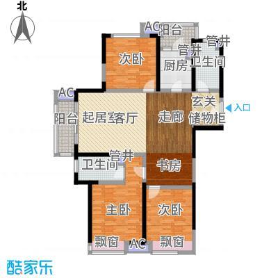 中建溪岸澜庭128.00㎡高层B2户型