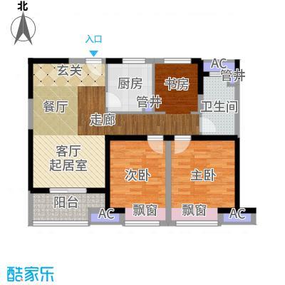 中建溪岸澜庭88.00㎡高层A2户型