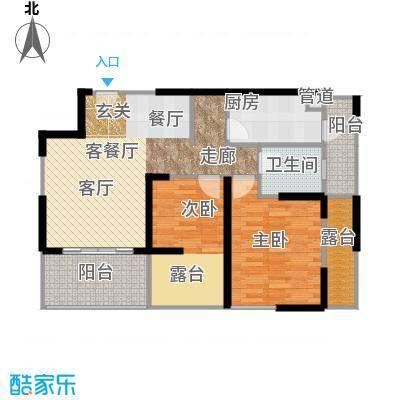 利通城南晶座93.83㎡C5型(已售面积9383m户型