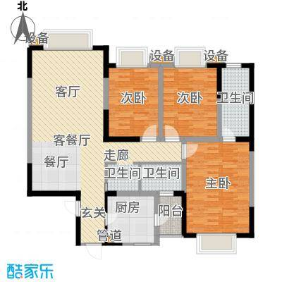 和谐家园126.33㎡A1型面积12633m户型