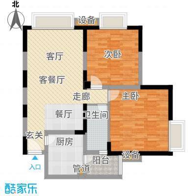 和谐家园89.91㎡B4型面积8991m户型