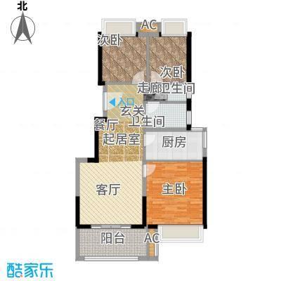 松江颐景园89.00㎡A1户型