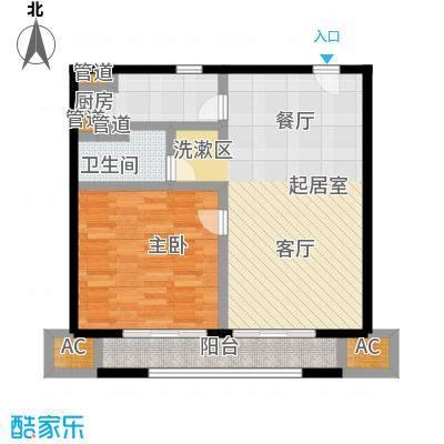 华润外滩九里国际公寓73.00㎡B户型