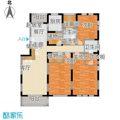 浦江颐城晶寓170.00㎡二楼户型