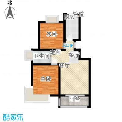 绿地东上海88.13㎡N1-2原户型