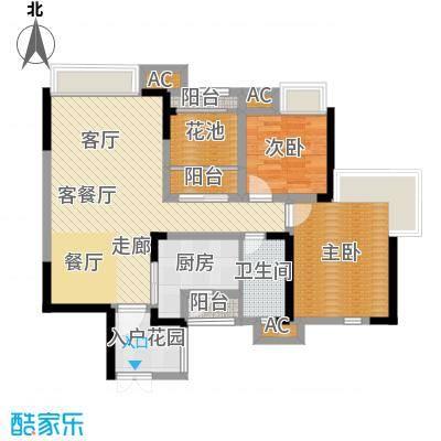 中海翠屏湾89.50㎡F1型1面积8950m户型
