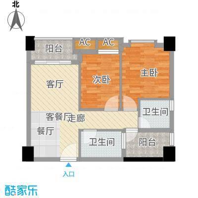 中海翠屏湾65.00㎡三期部落阁12面积6500m户型