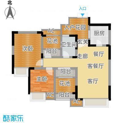 中海翠屏湾89.50㎡H型面积8950m户型