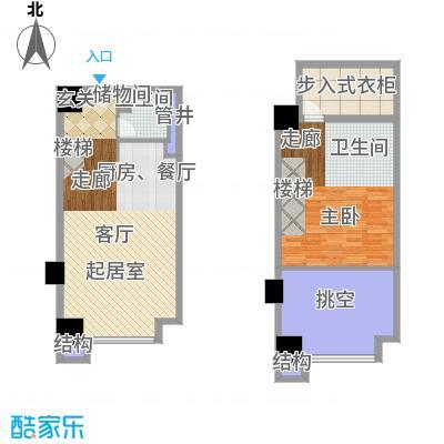 佳兆业城市广场53.00㎡Csoho平面图户型