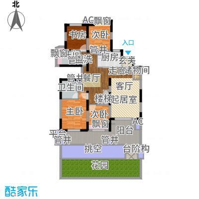 中建溪岸澜庭158.00㎡花园洋房C1户型