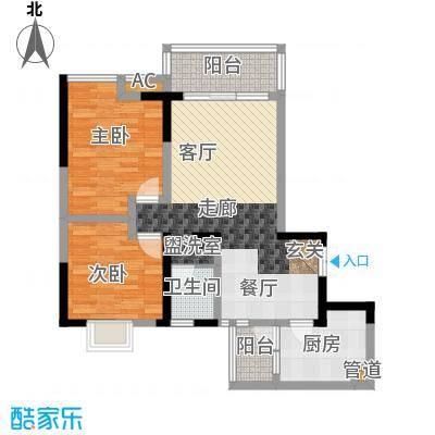 西江月89.78㎡3期7、8号楼电梯户面积8978m户型