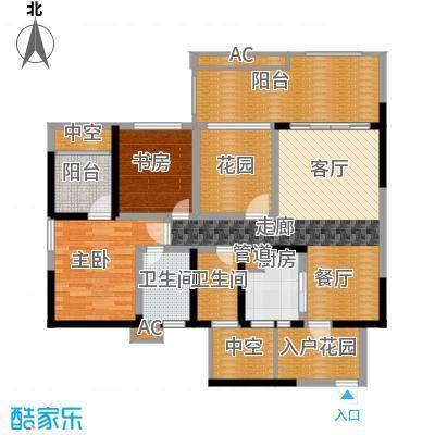 蓝光凯丽香江87.00㎡3-B2'型偶面积8700m户型