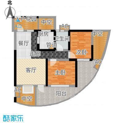 蓝光凯丽香江78.00㎡3-D1型奇数面积7800m户型