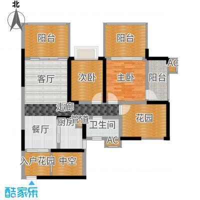 蓝光凯丽香江89.00㎡3-C2型偶数面积8900m户型