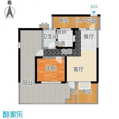 蓝光凯丽香江76.00㎡3-D2'型奇面积7600m户型