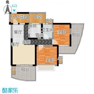 蓝光凯丽香江78.00㎡3-D1型偶数面积7800m户型