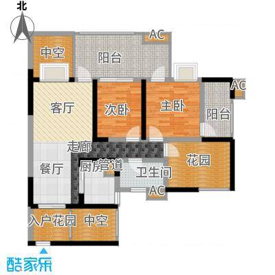 蓝光凯丽香江89.00㎡3-C2型奇数面积8900m户型