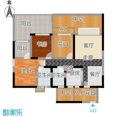 蓝光凯丽香江89.00㎡3-B2'型奇面积8900m户型