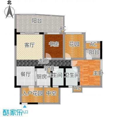 蓝光凯丽香江89.00㎡3-B2型偶数面积8900m户型