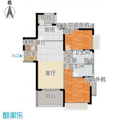 时代晶科名苑120.00㎡二期20号楼面积12000m户型