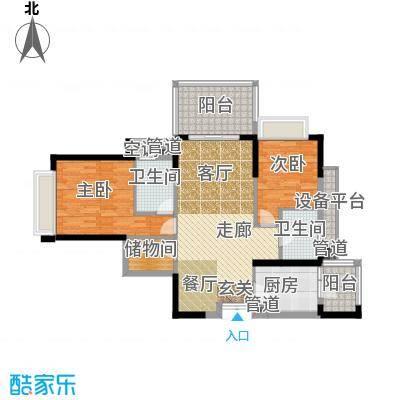 时代晶科名苑115.00㎡二期20号楼面积11500m户型