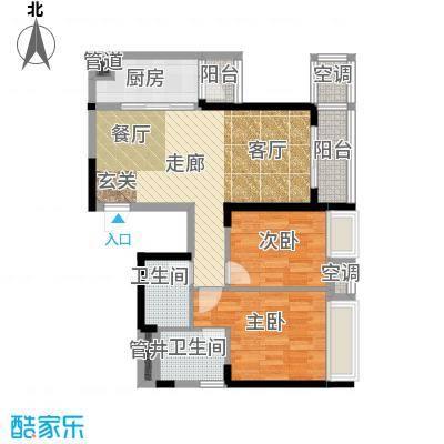 时代晶科名苑93.00㎡三期16号楼面积9300m户型