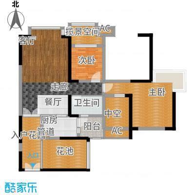 中海兰庭89.00㎡O型奢景奇数层面积8900m户型