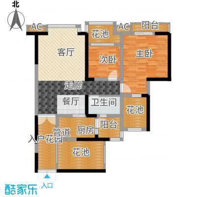 中海兰庭88.00㎡O型奢景偶数层面积8800m户型
