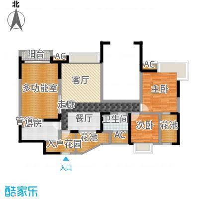 中海兰庭89.00㎡2期N型偶数层面积8900m户型
