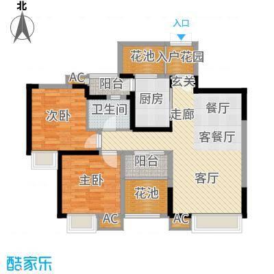 中海翠屏湾89.00㎡G(已售完面积8900m户型