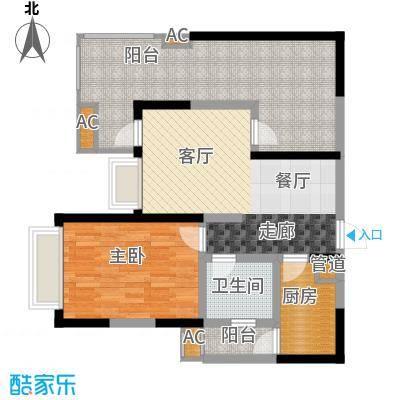 蓝光凯丽香江76.00㎡3-D3型奇数面积7600m户型